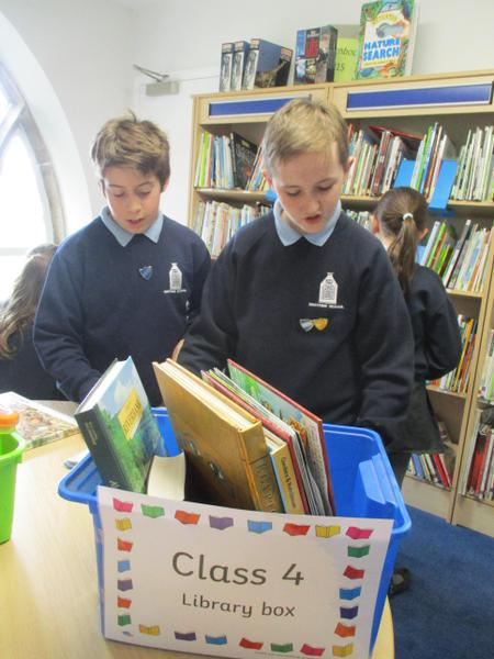 Class 4 re-stocking their library box