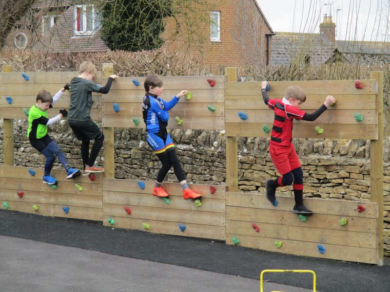 Children racing round the Spotacular course