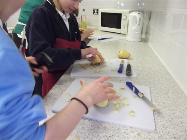 Making Leek and Potato Soup