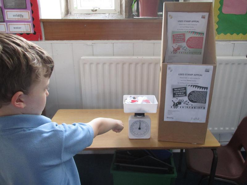 Recycling stamps for local charity