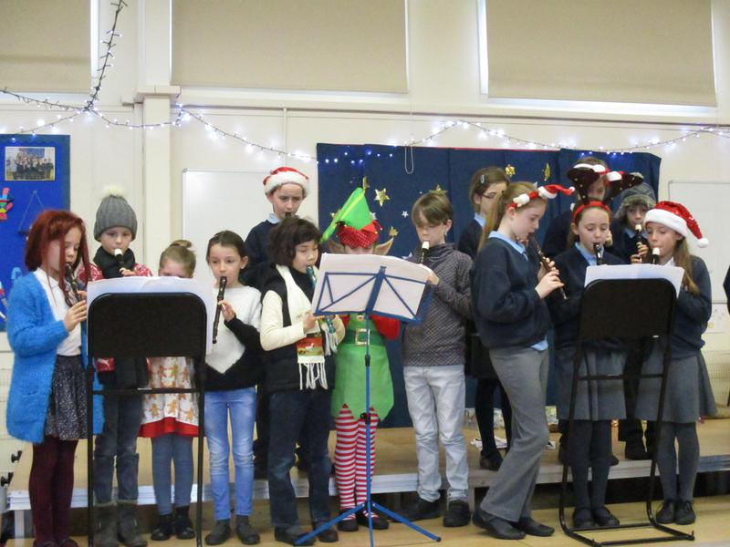 Recorder groups performing at Christmas