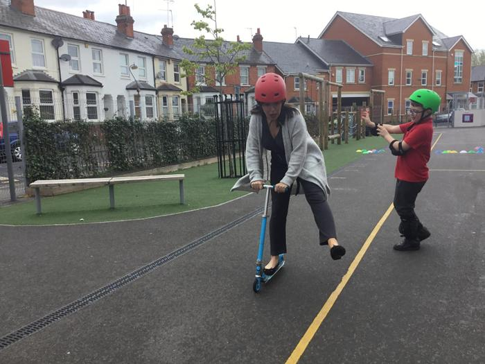 Miss Harling was not quite as confident as the children.