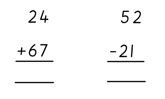 Do you need to exchange or carry the tens/ones?