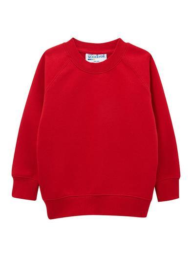 red sweatshirt (optional logo)