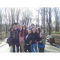 With friends in the park