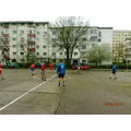 Playing football with friends