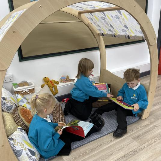 Our new beautiful reading area