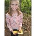 Lizzie's choco/cheese fajita...mmm...