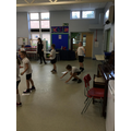 Fitness warm up in PE - working collaboratively