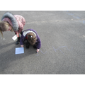 Making a giant number track.