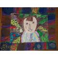 What a colourful Self-Portrait!