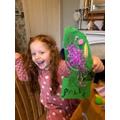 F made a fantastic bird called Mila.