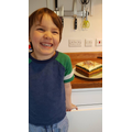 E loves baking cakes with lots of sprinkles.