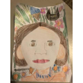 Look at this wonderful self portrait in the style of Frida Kahlo!