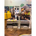 The children in school have built a fort.