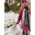 C made a snowman.