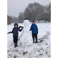 Ethan and Xanthe's snowman