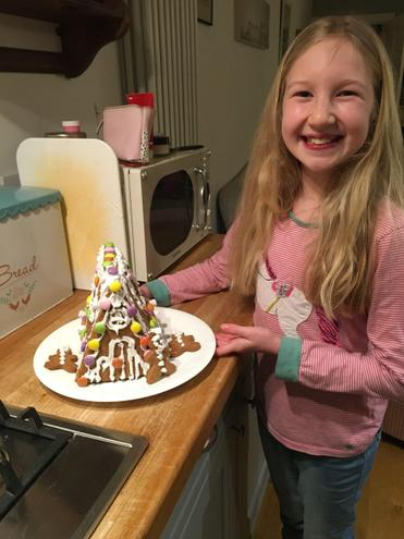 Building an amazing gingerbread house!