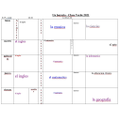 Lottie's Spanish timetable
