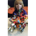 J has been expressing himself through amazing Lego creations.