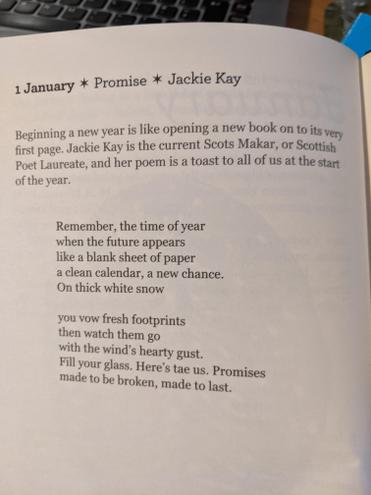 Today's Poem of the Day is from the 1st of January. It is about the start of the year.