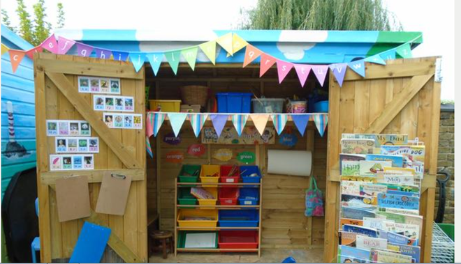 Our reading and writing shed