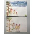 H's wonderful bird paintings