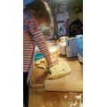 Some yummy fruite scones in the process of being made.