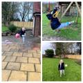 C loves to do gymnastics!