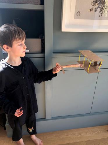 Hugo's FAB Wright Brothers plane!
