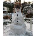 Mrs C's Viking snow warrior!