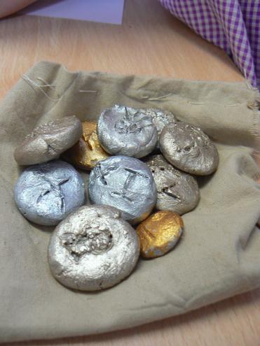 Clay Roman Coins