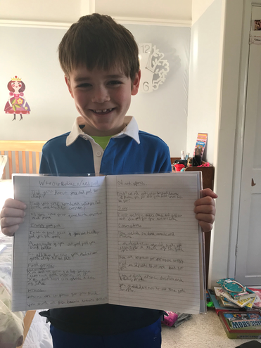 SUPERB non-fiction report writing George! x