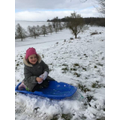 S loved the snow this week!