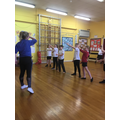 Beginning our dance lessons in PE...