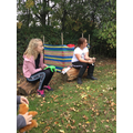 Forest schools seating area...