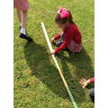 Using different apparatus to measure.