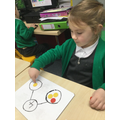 Using the part part whole diagram to split numbers up to five in different ways.
