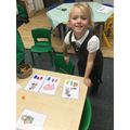 Using magnetic letter to make words