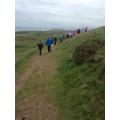 We trekked across the grasslands