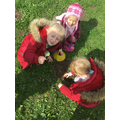 We have made dinosaur homes during forest school.