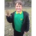 Joshua found fossilised coral