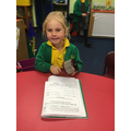 We made our own verse to 'Old Mac Donald'.