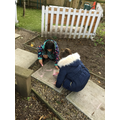 We explored our outdoor learning area.