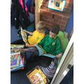 We have enjoyed reading in our reading area.