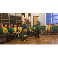 We did our first full class assembly.