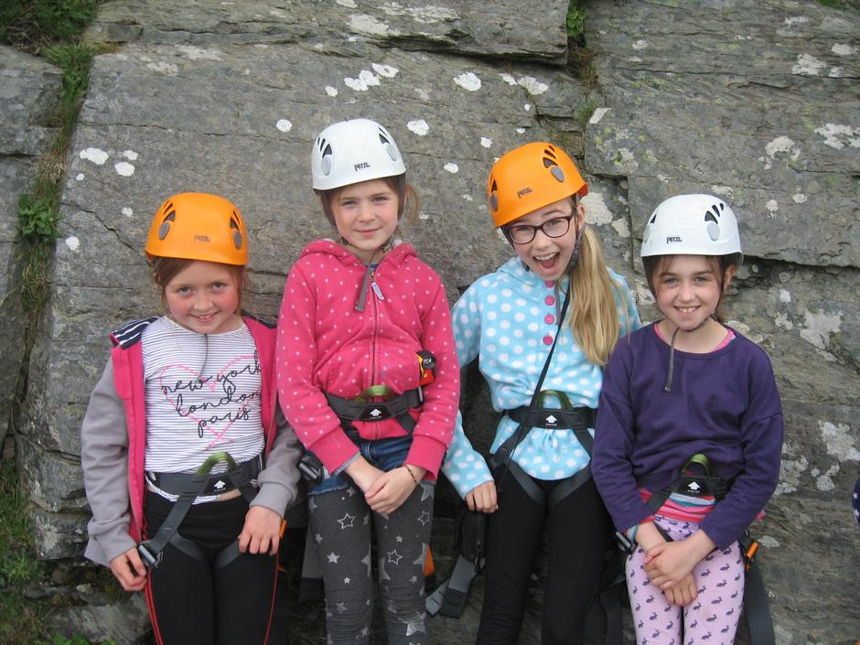 Rock climbing at Pinkery 2019