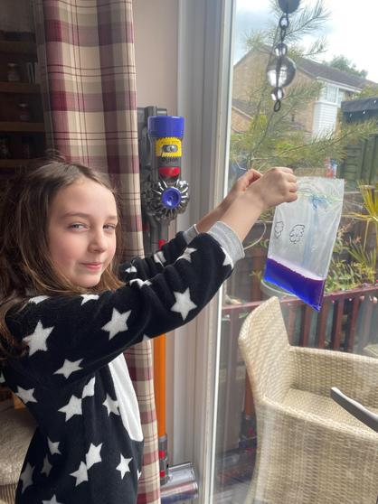 Louisa investigating the water cycle.