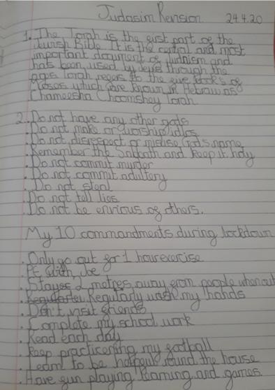 Isaac's 10 Commandments