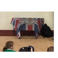 Our visitor showed us a special flag.